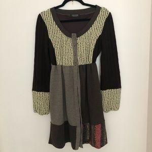 GUCCI Vintage Dress Cardigan Knee length Knit